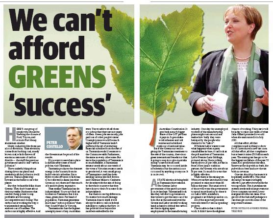 We can't afford GREENS 'success'